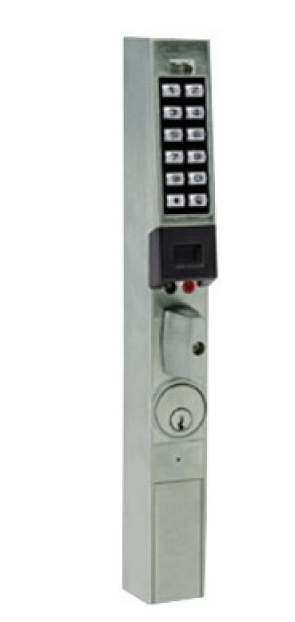 Trilogy PDL1350/26D2 Narrow Stile Prox/Keypad W/ Knob, Weatherproof Satin Chrome