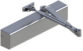 Hagar 5200-MLT-16-ALM-HO Grade 2 Size 1-6 Aluminum Hold Open Closer Multi Mount Hold Open Arm