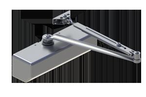 Hagar 5300-MLT-16-ALM Grade 1 Aluminum Closer Multi Mount Adjustable 1-6 Barrier Free