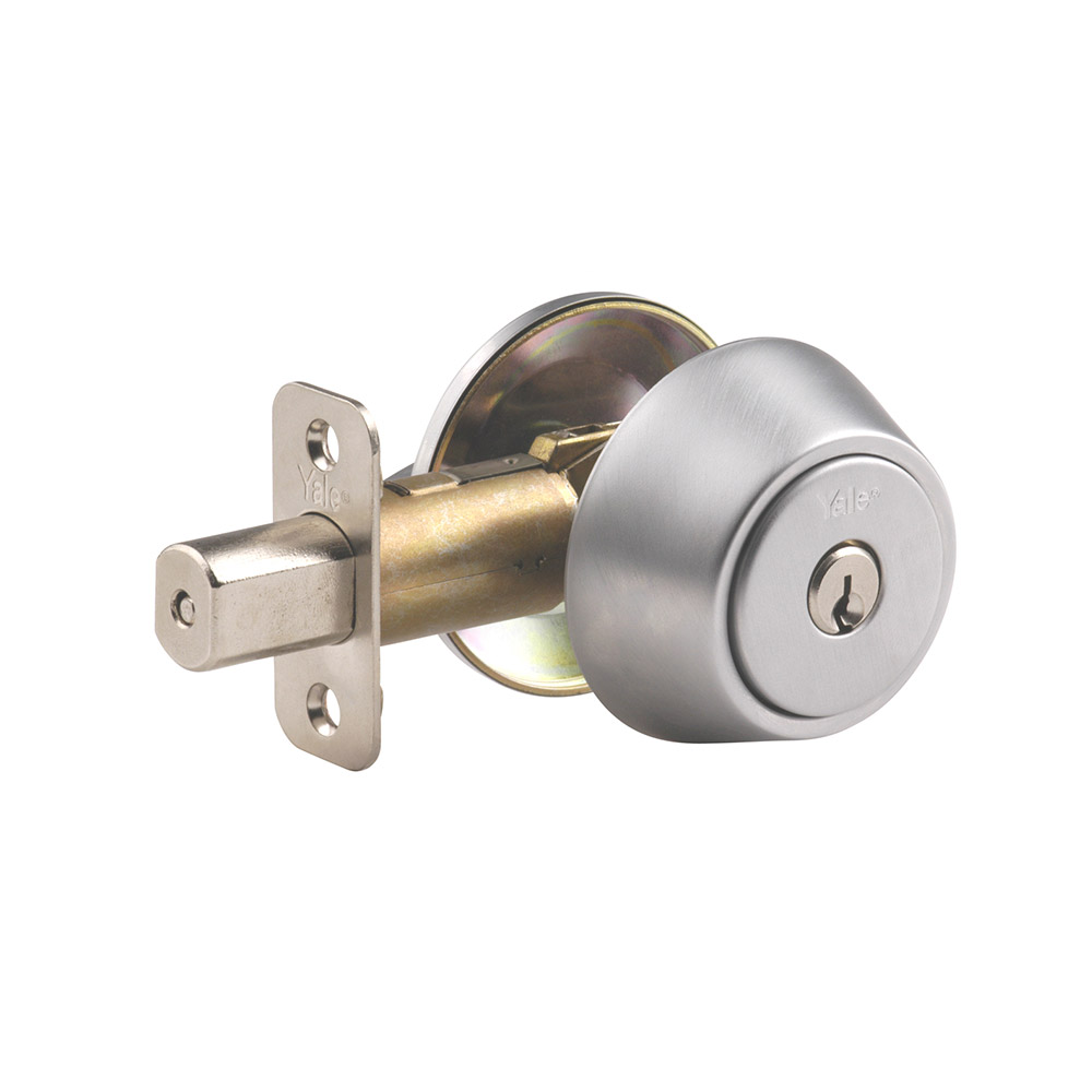 Yale Residential 8326D Satin Chrome YH Series Grade 2 Single Cylinder Deadbolt x Adjustable Radious