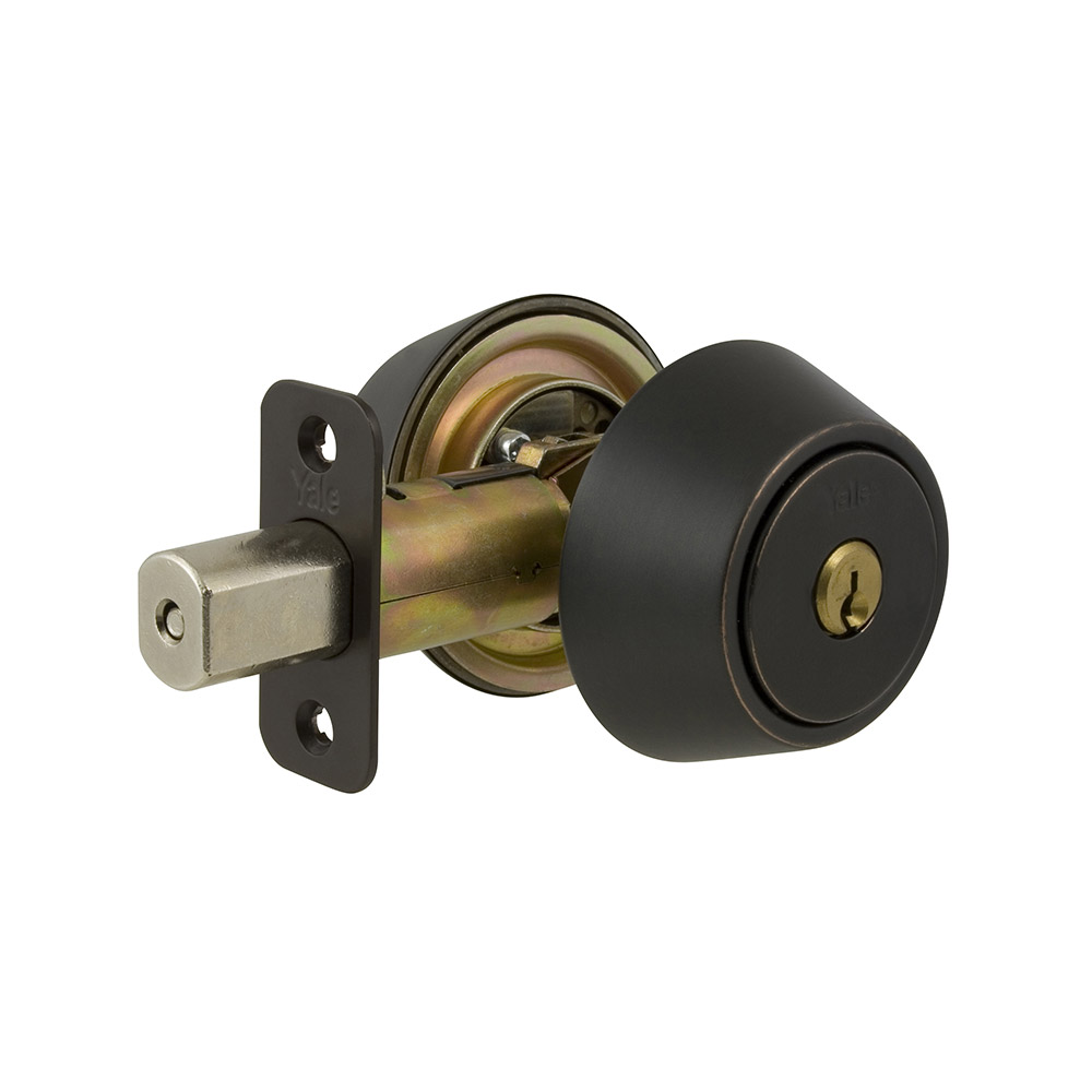 Yale Residential 84010B Oil Rubbed Bronze Permanent NT Series Grade 2 Double Cylinder Deadbolt x Adj