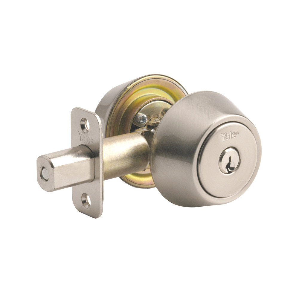 Yale Residential 84015 Satin Nickel NT Series Grade 2 Double Cylinder Deadbolt x Adjustable Radious
