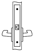 Yale AUCN 8801FL 613 Mortise Lever Latch