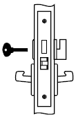 Yale JNCN 8802FL 613 Mortise Lever Lock
