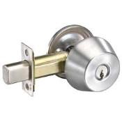 Yale D111 605 Deadbolt x Single Cylinder Included x 2-3/8 BS x E1R-KD Kwy Bright Brass
